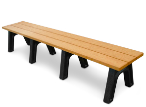 Model PL8NB-P | Recycled Plastic Personalized Park Benches | Backless