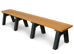 Model PLD8NB-P | Recycled Plastic Engraved Bench | Backless