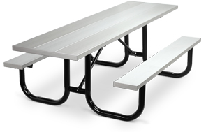 Model PMB-HAA | Park Master Universal Accesss Aluminum Picnic Tables with Black Enamel Frame
