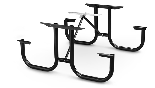 Model PMB-WF | Park Master Picnic Table Black Enamel Frame Kit