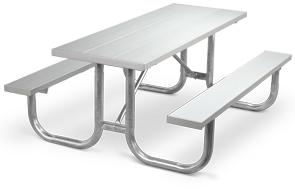 Model PMG-6AA | Park Master 6ft. Aluminum Picnic Tables with Hot-Dipped Galvanized Frame