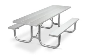 Model PMG-HAT | Park Master 8ft. Aluminum Picnic Tables with Hot-Dipped Galvanized Frame