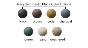 Recycled Plastic Slats Color Options