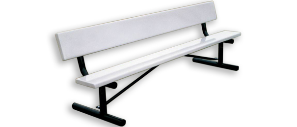 Model PP8WB-P | Plasti-Plank™ Steel Park Benches (Gray/Black)