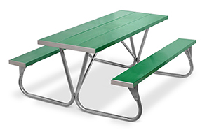 Model PR-6AG | Park Ranger  6ft. Aluminum Picnic Tables (Kelly Green)