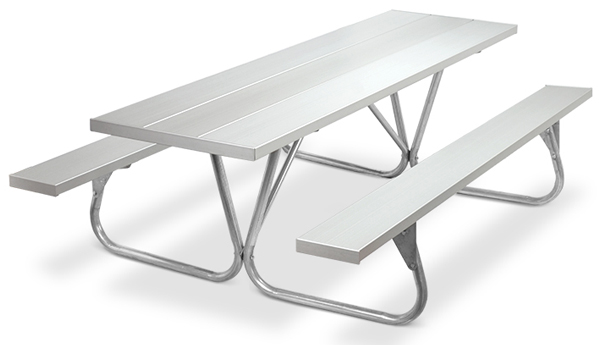 Model PR-8AA | Park Ranger  8ft. Aluminum Picnic Tables (Anodized Aluminum)