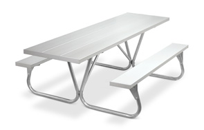 Model PR-HAA | Park Ranger 8ft. Aluminum Picnic Tables (Anodized)