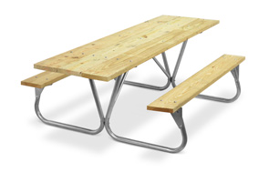 Model PR-HWA | Park Ranger 8ft. MCA Treated Picnic Table with Galvanized Frame