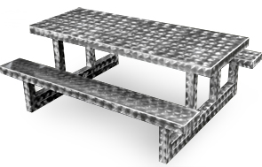 Model PRTS-872N | Rectangular Aluminum Picnic Table (Swirl Texture)