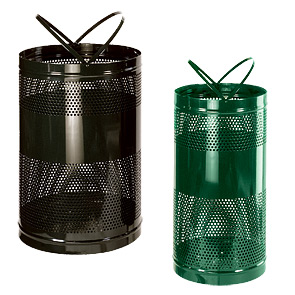 Model H55E | Model H3 | Perforated Basket Waste Receptacles