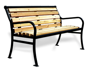 Model PVC4 | Parkview Wooden Outdoor Benches
