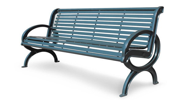 Model PVCL6 | Parkview Classique Commercial Outoor Benches (Black)