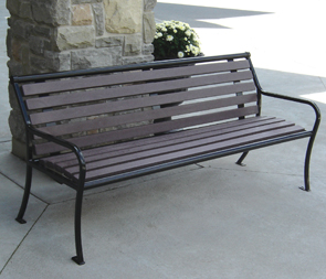 Model PVR6 | Parkview Recycled Plastic Benches (Gray/Black)