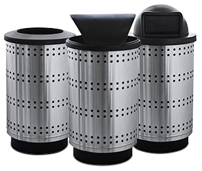 Paramount Series Stainless Steel Trash Receptacles