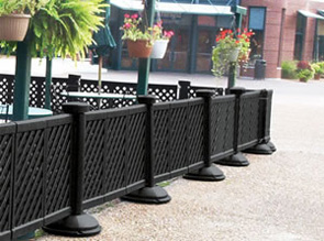 Black Portable Decorative Patio Fence