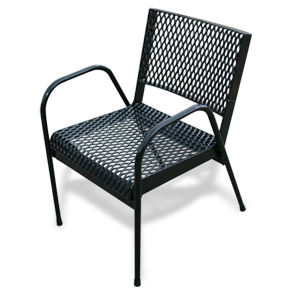 Model R-CHAIR | Expanded Steel Stacking Chair (Black)