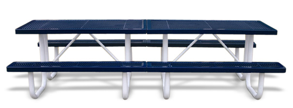 Model R10-P | Park Shelter Picnic Table (Mariner/White)