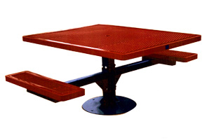 Model R462H-S | Universal Access Thermoplastic Pedestal Frame Table (Red)