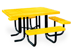 Model R463H-P | Universal Access Thermoplastic Coated Table (Yellow/Black)