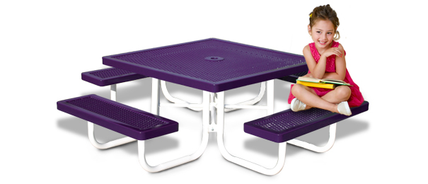 Model R46K-P | Kids Picnic Table | Traditional Style (Purple/White)