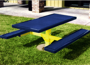 Model R6-I | Rectangular Picnic Tables | Traditional Style (Mystic/Yellow)