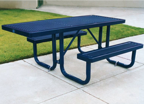 Model R6H-P | 6 ft. Universal Access Picnic Table with One Overhang (Mystic)