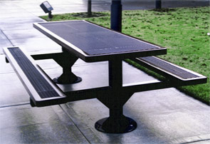 Model R8-S | Rectangular Picnic Table | Traditional Style (Mariner/Black)