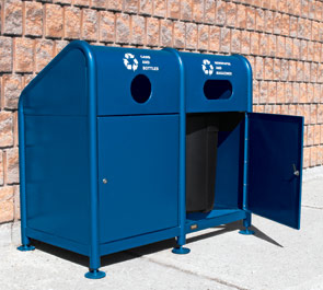 Model RC-2-34 | Single, Double & Triple Section Recycling Stations (Blue)
