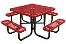 Leisure Series Expanded Steel Square Picnic Table