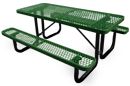 Leisure Series Expanded Steel Rectangular Picnic Table