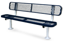 Leisure Series Park Bench with Backrest
