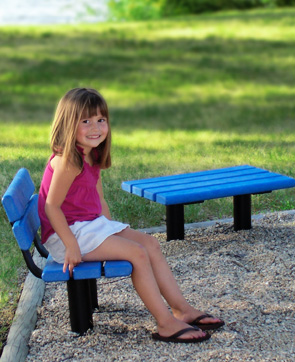 Fabulous Park Scapes Kids Benches Recycled Plastic Belson Outdoors Dailytribune Chair Design For Home Dailytribuneorg