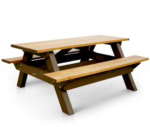 Model RPD6 | 6ft Recycled Plastic Picnic Table