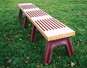 Model RS8NB-P | Recycled Plastic Slatted Bench