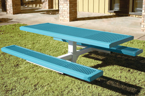 Model RSL6-I | Rectangular Picnic Tables | Traditional Comfort Style (Lt. Blue/White)