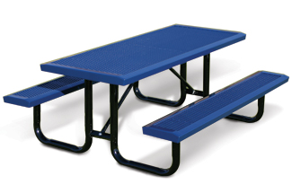 Model RSL6-P | Rectangular Picnic Table | Traditional Comfort Style (Mystic/Black)