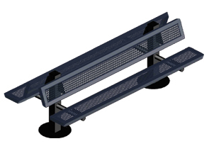 Model RSL6DWB-IPS | 6' Thermoplastic Coated Bench (Mariner/Black)