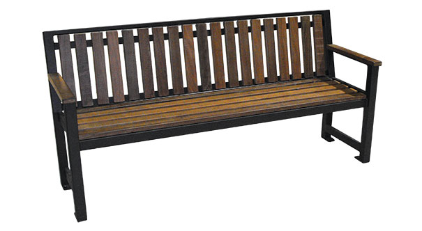 Model RSPS6 | Wood Park Benches | Regency Style (Pau Lope/Black)