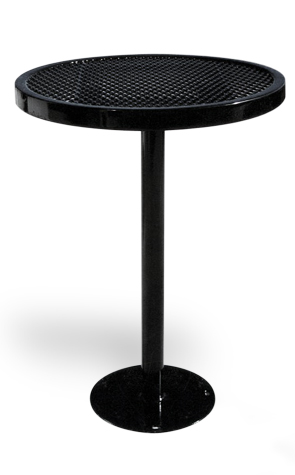 Model RT30-S | Expanded Steel Round Table (Black)