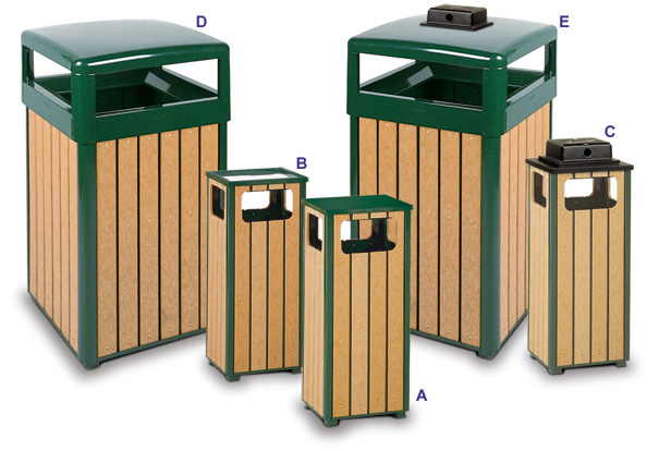 Regent 50 Series Square Waste Receptacles