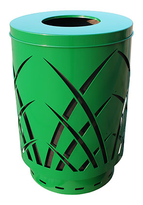 Model SAW40P-FT | Covington Collection Sawgrass Trash Receptacles (Green)