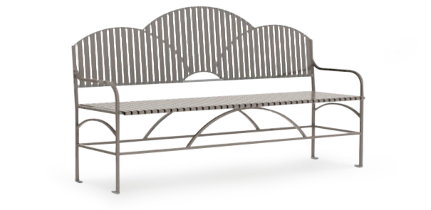 Model SFBB72 | Summerfield Series Powder-Coated Steel Bench with Backrest