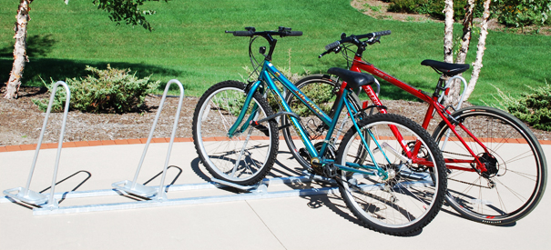 Model SHK-SNG-5-G | Shark™ Bike Rack | Single Sided - Holds 5 Bikes (Galvanized)