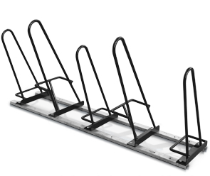 Model SHU-SNG-5-P | Shark™ Up Bike Parking Rack | Holds 5 Bikes (Black)