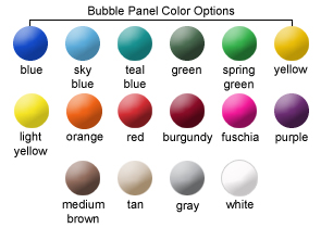 Bubble Panel Color Options