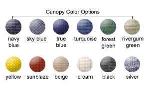 Canopy Color Options