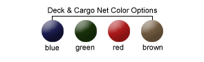 Deck and Cargo Net Color Options