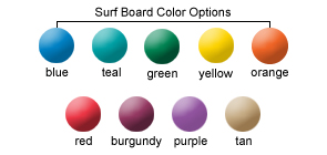 Surf Board Color Options