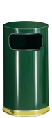 Model SO16-10G | Decorative European Series Green/Brass Flat Top Indoor Trash Receptacle