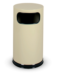 Model SO16EAL | Almond Powder-Coated Steel Trash Receptacle with Side Opening